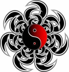 tribal yang yang vector image vector image