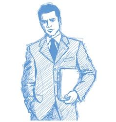 businessman laptop vector image vector image