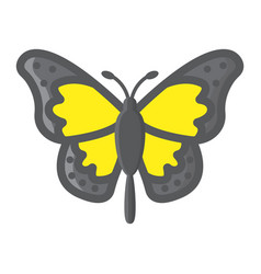 butterfly filled outline icon easter and holiday vector image
