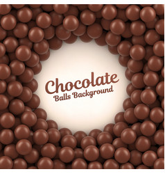 chocolate balls background with place for your vector image