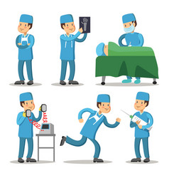 hospital medical staff character surgeon doctor vector image vector image
