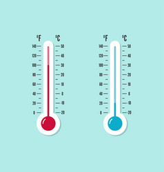 meteorology thermometer with celsius fahrenheit vector image vector image