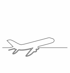 plane icon in line art style airliner icon vector image