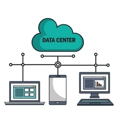 technology equipment cloud data center isolated vector image