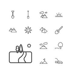 13 landscape icons vector