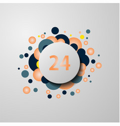24 hours badge icon vector