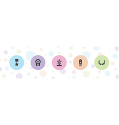 5 award icons vector