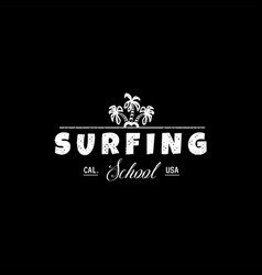 a set surfing for printing wild wave logo vector image