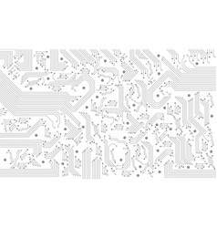 abstract grey circuit pattern on white technology vector image