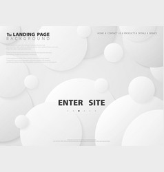 Abstract modern landing page circle gradient vector