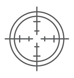 Aim thin line icon focus and circle target sign vector