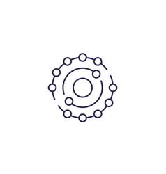 Antioxidant icon in line design vector