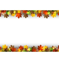 Background autumn white space vector