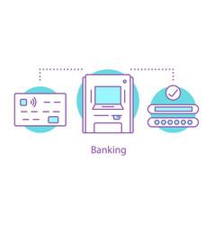 Banking concept icon vector