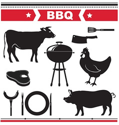 Barbecue design elements vector