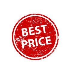 best price sign sticker stamp texture vector image