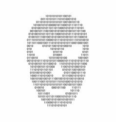 binary code in hacker face shape malware and vector image