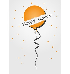 Birthday card with broken balloon vector