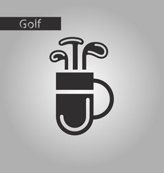 black and white style icon bag with clubs vector image