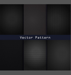 Black metal patterns texture steel background vector