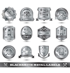 Blacksmith Metal Label vector image