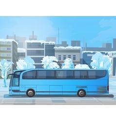 Blue bus vector