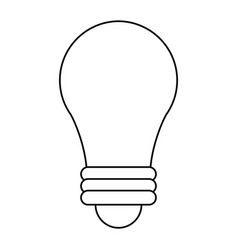 Bulb imagination innovation outline vector
