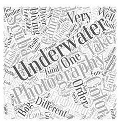 camera bag underwater Word Cloud Concept vector image