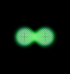 can night green vision binoculars infrared view vector image