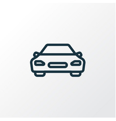 Car outline symbol premium quality isolated vector