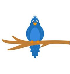 cartoon funny bird vector image