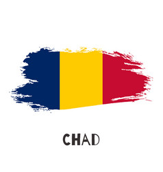 chad watercolor national country flag icon vector image