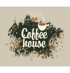 Coffee house with a cup vector
