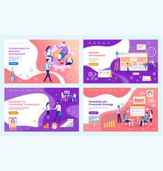 Collaboration business development team meeting vector