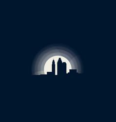 columbus city skyline vector image