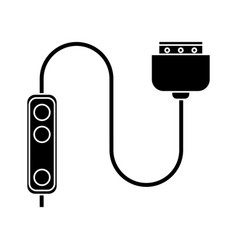 computer cable connection plug pictogram vector image