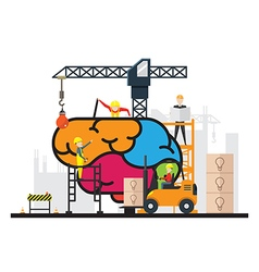 Construction creative brain concept vector