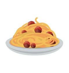 Delicious spaghetti pasta vector