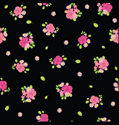 ditsy tropical flowers seamless pattern design vector image