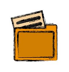 Document folders icon vector