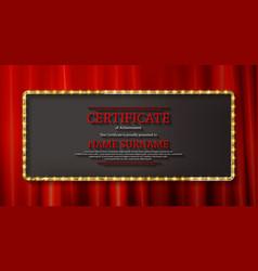 elegant template diploma vector image