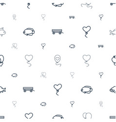 eps10 icons pattern seamless white background vector image