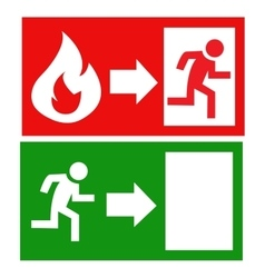 fire exit signs vector image