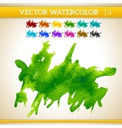 Fresh Green Watercolor Artistic Splash for Design vector image