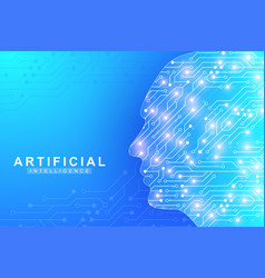 futuristic artificial intelligence and machine vector image
