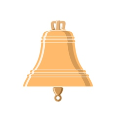 Gold Bell Isolated on White vector image