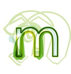Green letter M vector