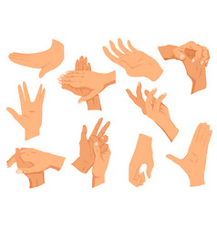 hands gestures set hands in vector image