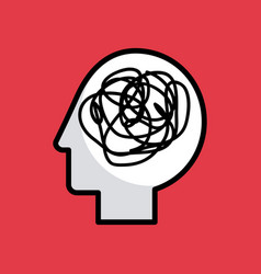 Head silhouette mind concept image vector