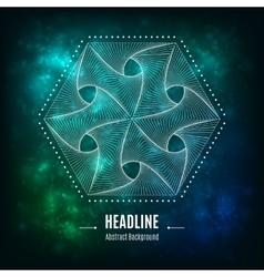 Hexagonal 3d abstract geometric shape on a vector image